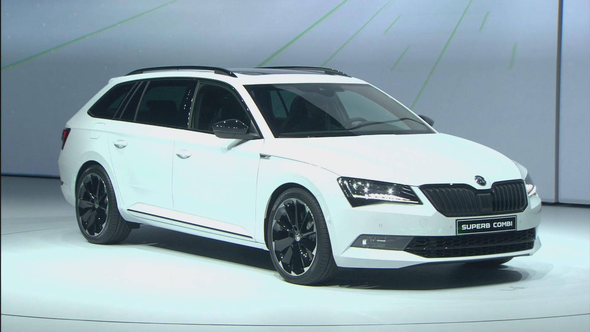 2016 skoda superb combi sportline world debut live. Black Bedroom Furniture Sets. Home Design Ideas