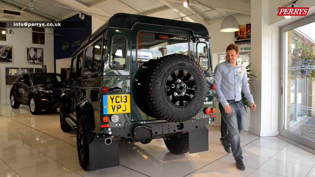 land rover defender  xs station wagon  car review  perrys auto photo news